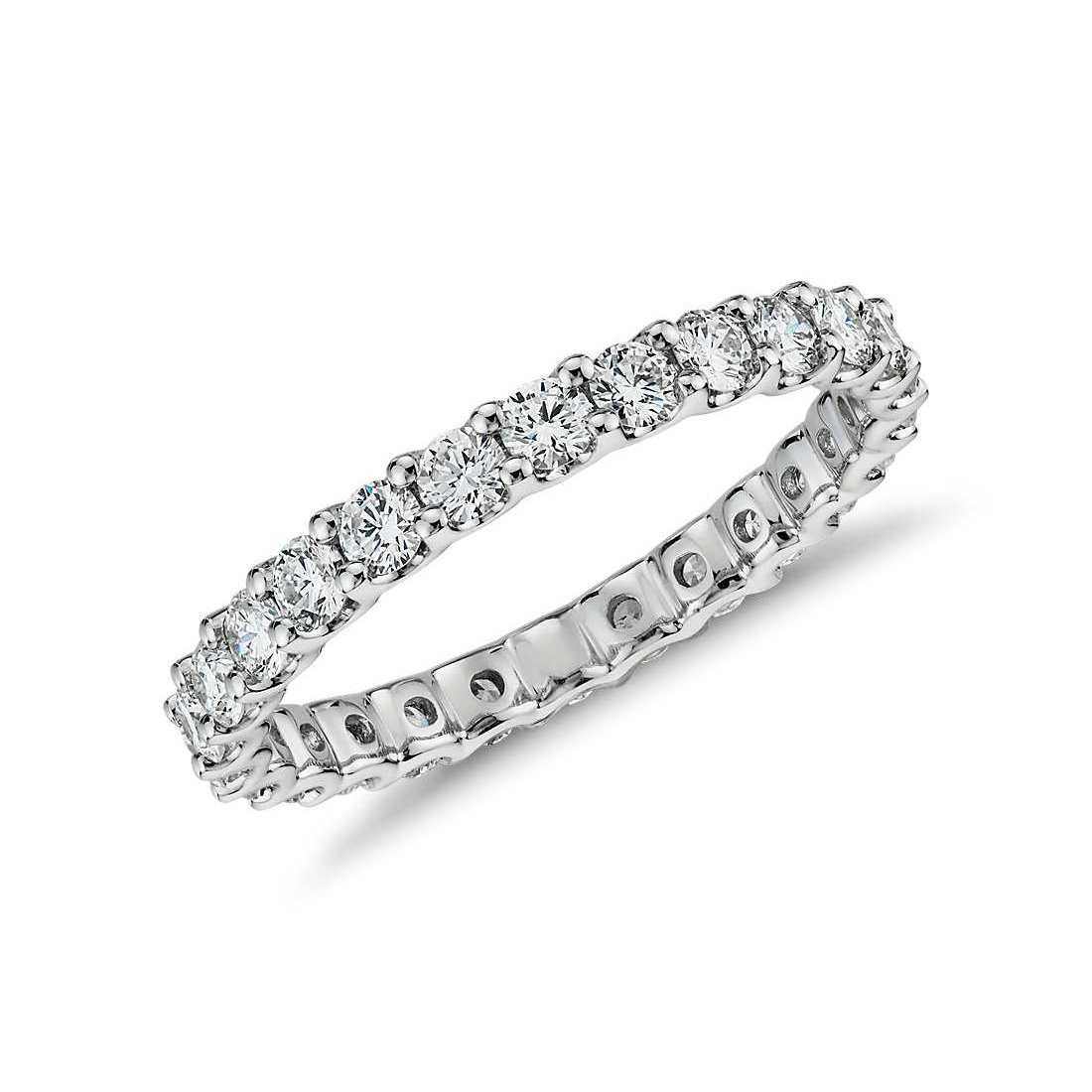 NYC Sterling 2.50mm Sterling Silver 925 Cubic Zirconia Eternity Engagement Wedding Band Ring (7)
