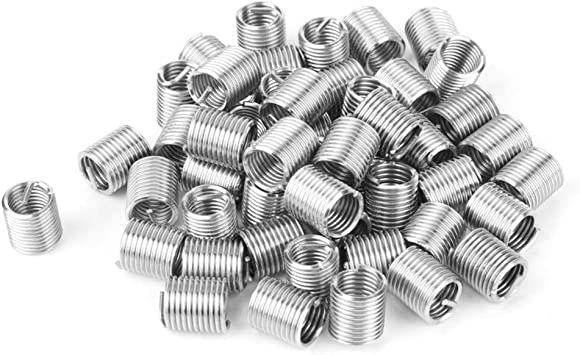 Ochoos 50pcs Stainless Steel Coiled Wire Helical Screw Thread Inserts M10 x 2D