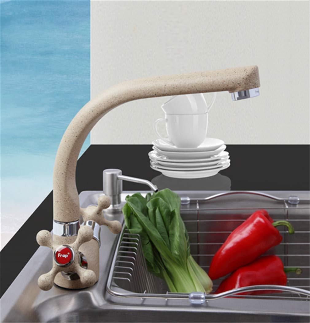 Frap MultiFarbe Spray painting Küchenspüle Wasserhahn Kalt-und Warmwasser-Mischbatterie Kran torneira Doppelgriff 360 Rotation F5408