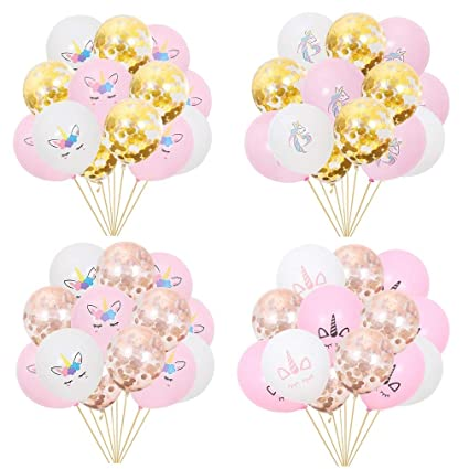 Amazon 60Pcs Unicorn Birthday Balloons Party Decorations 12