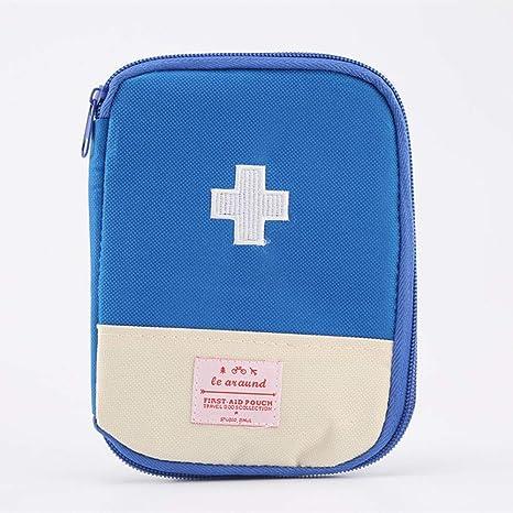 Ovesuxle Estuche para medicamentos Viaje al Aire Libre portátil Mini botiquín portátil botiquín de Primeros Auxilios botiquín de Almacenamiento pequeño botiquín (Color : Blue): Amazon.es: Hogar