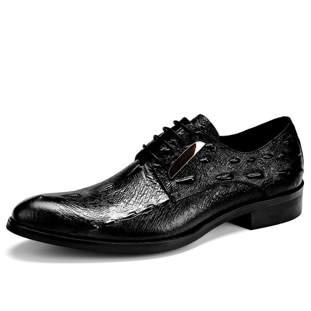 Fuxitoggo Mens Krokodil Muster Schuhe Schuhe Schuhe für Männer Nicht Beleg dauerhafte weiche alleinige Schuhe (Farbe   Rot, Größe   EU 42) B07JRFHS76  55eb52