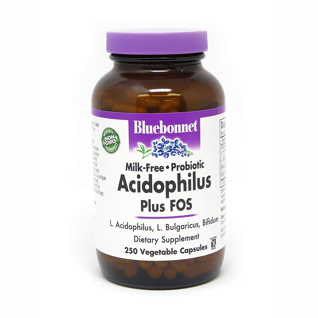BLUEBONNET Nutrition Milk Free PROBIOTIC ACIDPHILUS Plus FOS (Cold Packaged)