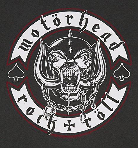 T shirt Badge di carbone Motorhead Biker uomo da amplificato