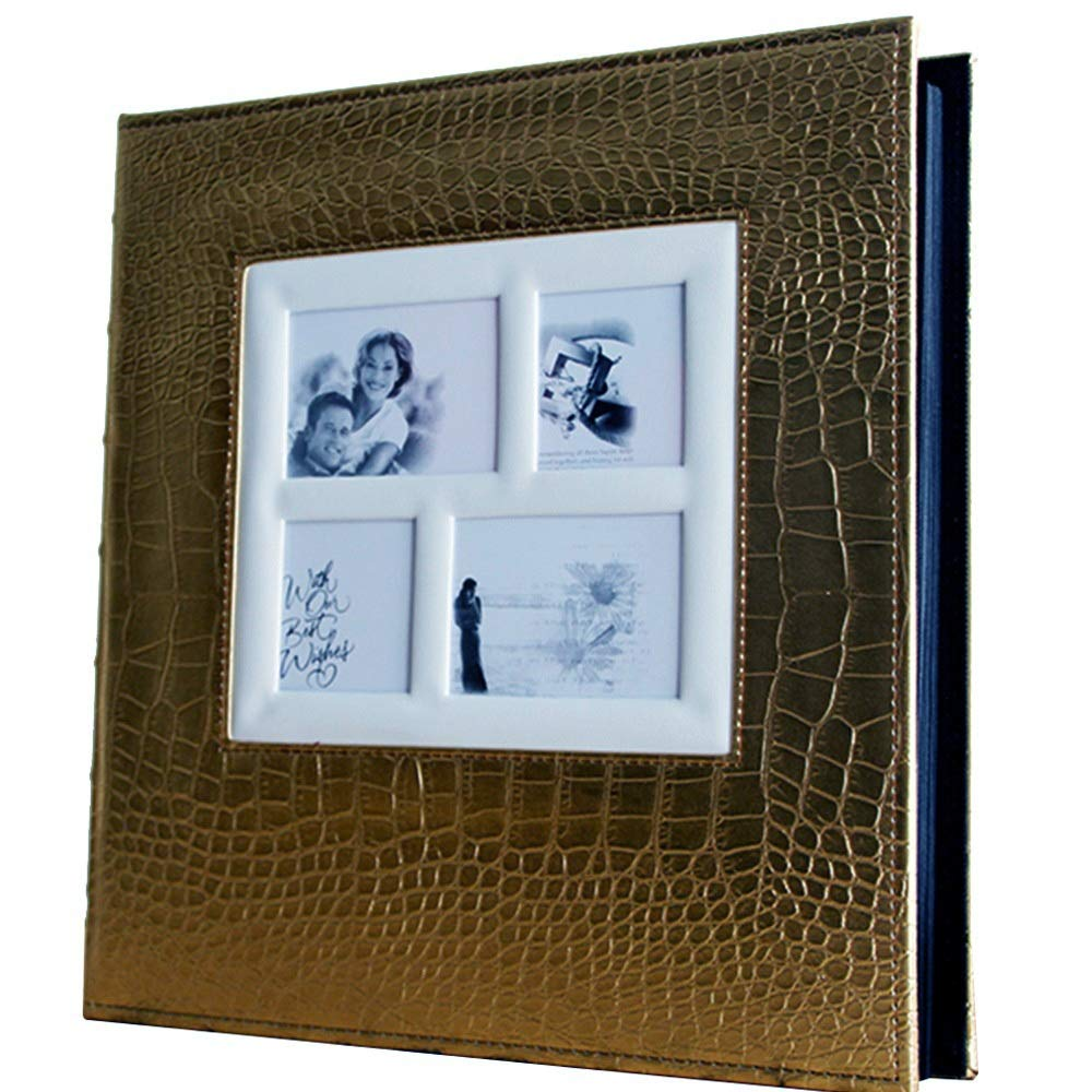 TYDG Interstitial PU Photo Album, Large-Capacity 500 Sheets of 6X4 Photos, Home Wedding Baby Grow Memorial Book (Color : Gold)