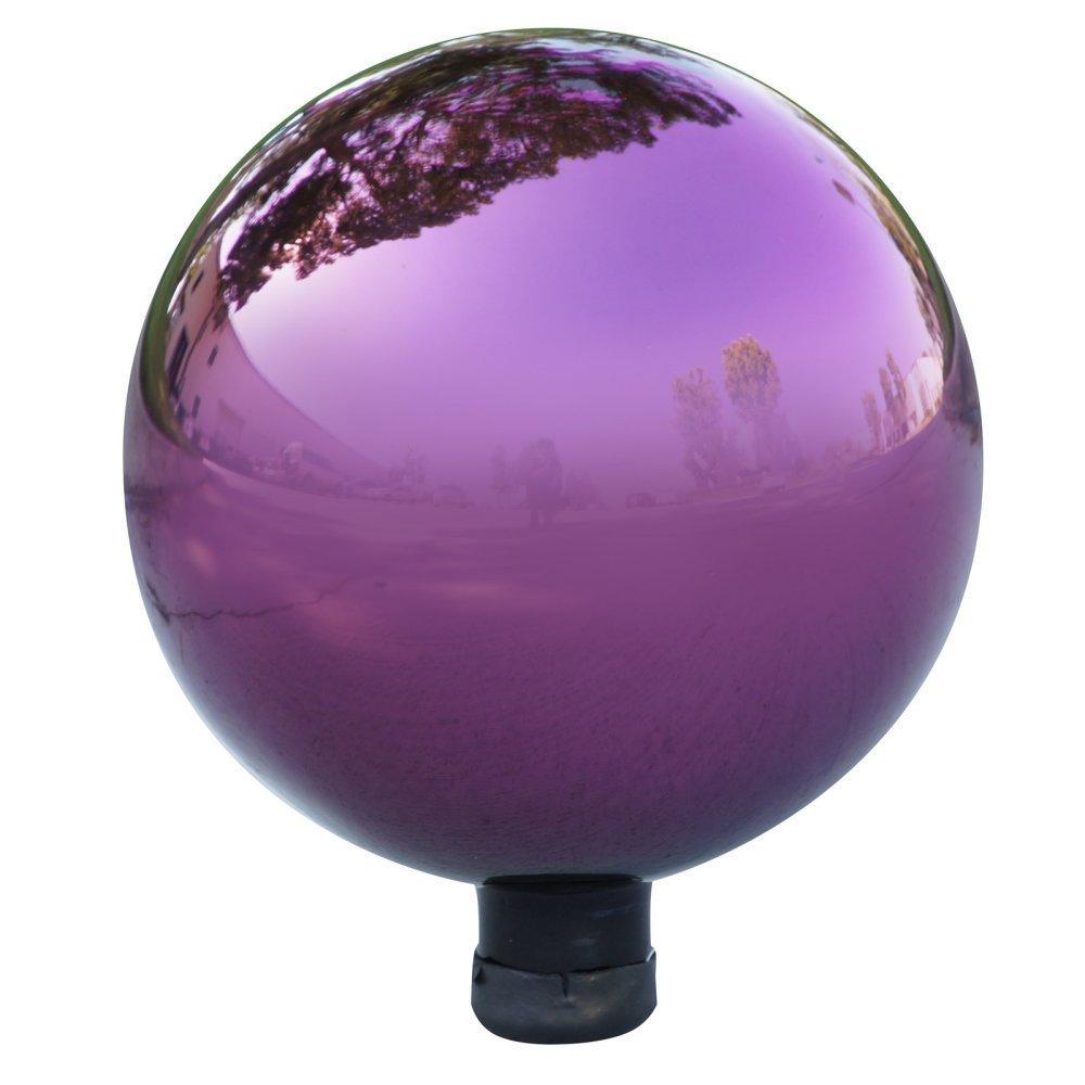 Alpine Electric Purple Glass Gazing Globe, Purple