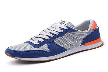 KMJBS Calzado de Hombre/Verano Hombres Zapatos De Los Deportes Estudiante Zapatillas Zapatos De Hombre Zapatos De Luz De Fondo Plano.