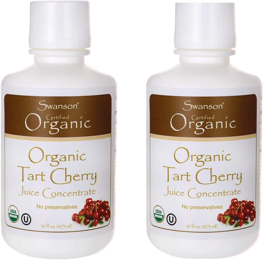 Swanson Tart Cherry Juice Concentrate 16 fl Ounce (1 pt) (473 ml) Liquid 2 Pack