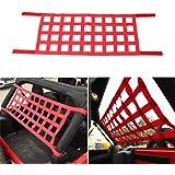 Mesh Cargo Net for Jeep Wrangler Cargo Net for YJ TJ JK JL-Red