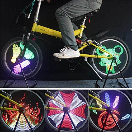 96 RGB LED 自転車 バイク サイクリング ホイールライト LED ライト 自転車 スポーク ライト バイク ランプ   B01JJD280S