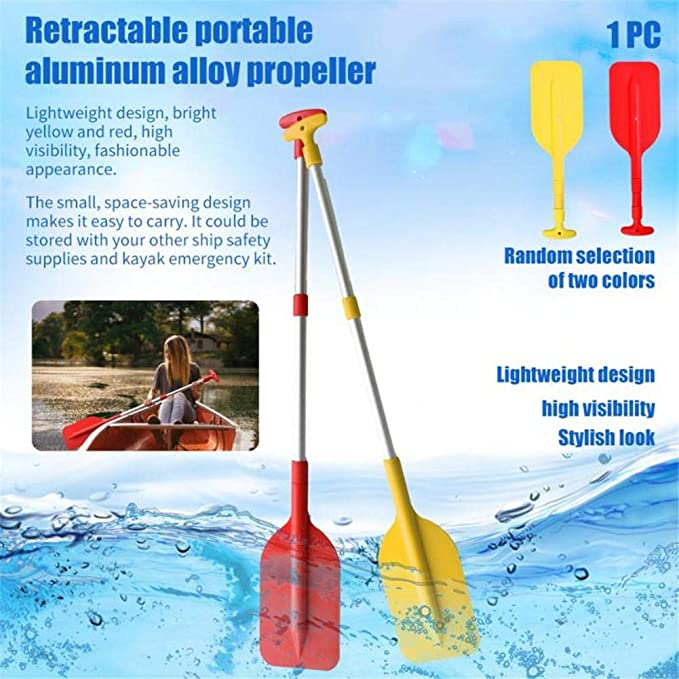 """Outdoor Inflatable Boat Dinghy harupink Boat Oars Kayak Paddles 42/"""" Telescopic Paddle Aluminum Adjustable Length Canoe Paddle with Anti-slip Grips for Kayak Canoe"""