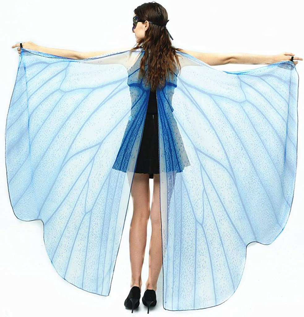 YueLove Butterfly Wings for Women,Women Adult Large Butterfly Wings Shawl Fairy Cape Costume Accessory