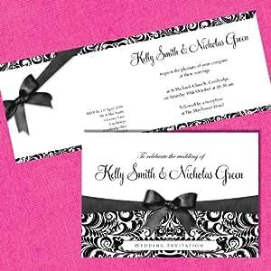 Invitaciones de boda personalizados Incl sobres en el lujo Pearl x 10