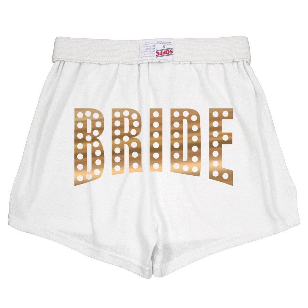 Bride Metallic Gold Wedding Day: Slim Fit Soffe Shorts