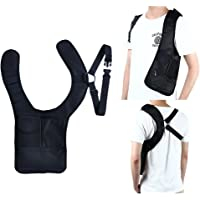Anti-Theft Hidden Security Bag Holster Portable Backpack for Phone/Money/ Passport Tactical Bag Shoulder Underarm Bag Multi-Purpose Concealed Pack for Travel/Outing Black