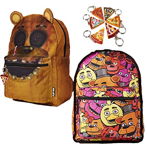 Phantom Freddy Costume - FNAF 3 Five Nights at Freddy's Nightmare Freddy Backpack Flip Pak & Keychain