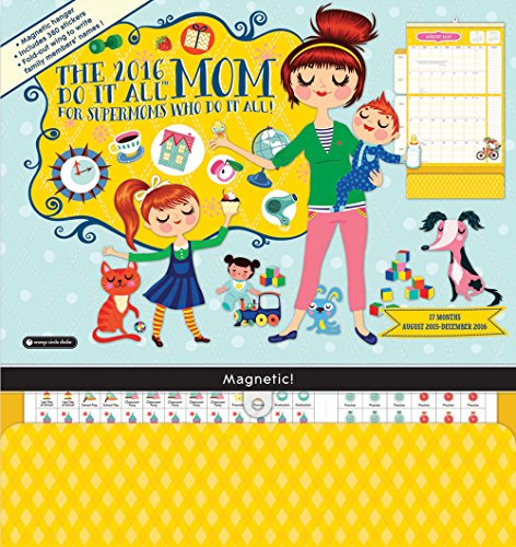 Orange Circle Studio 17-Month 2016 Do It All Magnetic Wall Calendar, Mom's Do It (Dec Write On Calendar)