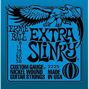 Ernie Ball Extra Slinky Nickel Wound Sets, .008 – .038, Bundle of 3 Sets