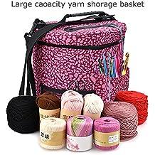 Junda Best Knitting Bag Yarn Storage Organizer Yarn Storage Crochet Organizer - Light and Easy to Carry- enjoy knitting & crochet anywhere