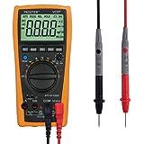 Proster Multimètre Numérique VC97 3999 Multi Détecteur Testeur de Gamme Automatique - Multimètre Testeur de Batterie Résistance Courant Voltage AC DC Compteur Numérique Voltmètre Ampèremètre Ohmmètre