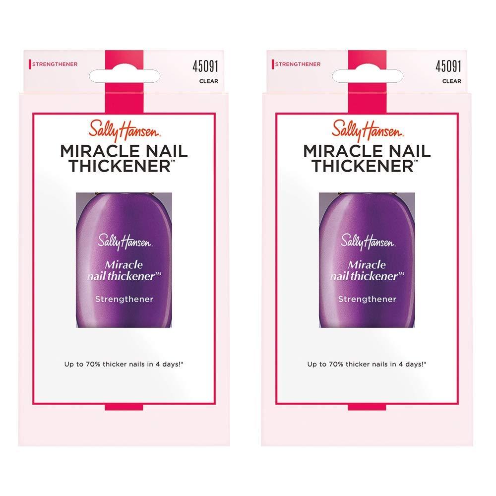 Sally Hansen Nail Treatment Miracle Nail Thickener, 2 Count