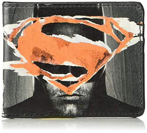 Buckle-Down Wallet Dawn Of Justice Batman + Superman Face-off/logos Accessory at Gotham City Store