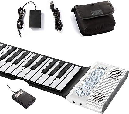 MSHK Piano Portátil 88 Teclas De Silicona Flexible Enrollable ...