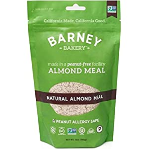 BARNEY Natural Almond Meal, Paleo, KETO, Non-GMO, Peanut-Free, 13 Ounce