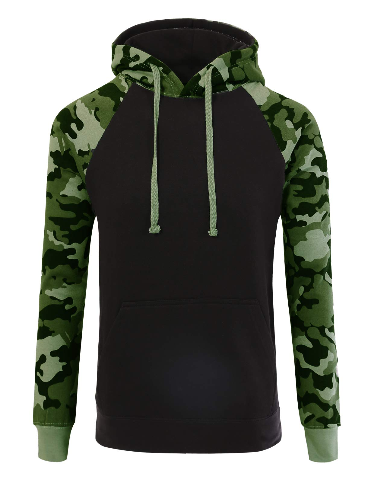JD Apparel Mens Hipster Hip Hop Two-Tone Pullover