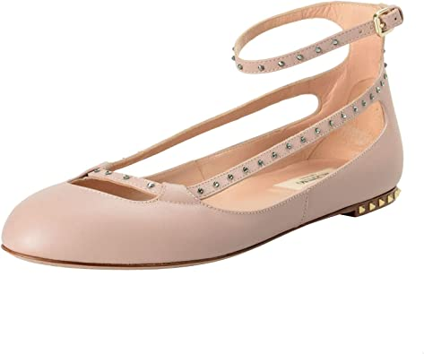 detaljhandelspriser obesegrad x olika färger Amazon.com   VALENTINO Women's Leather Studded Ballerina Flats ...