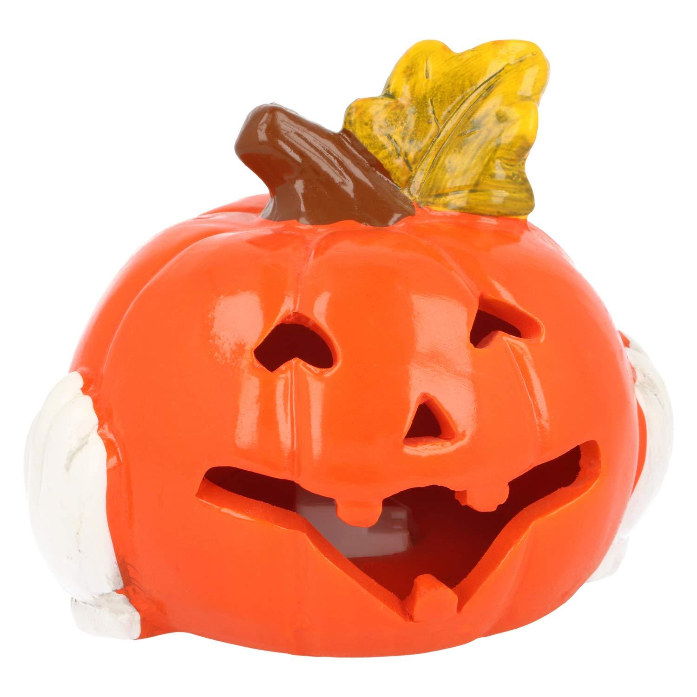 Lanterne pour Halloween et lautomne 001 pi/èces - Citrouille 16 cm Citrouille d/éco au Visage Effrayant com-four/® Citrouille avec /éclairage /à LED