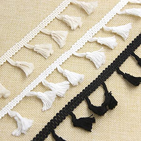 Yalulu 10 Yards Tassels Fringe Lace Trim Tassel Ribbon for Clothes Accessories DIY Sewing Applique Craft #1