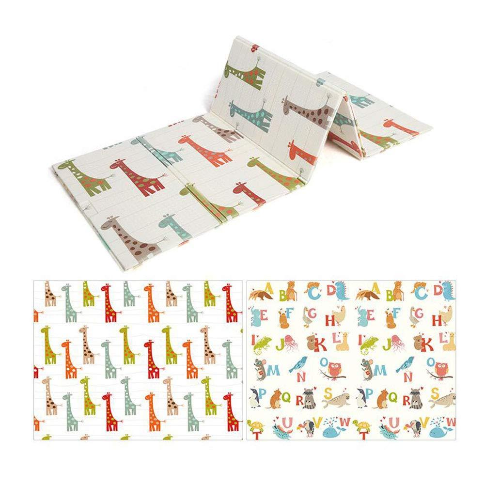 MUMA プレイパッド、カーペット、クロールマット、両面パターン、ベビー厚みの環境保護Foldable Baby Child世帯 (色 : AB8, サイズ さいず : 200*180cm) B07NNVKHJ3 200*180cm|AB2 AB2 200*180cm