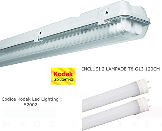 E-LED plafoliera hermética 120 cm de oficina Local Industrial 34watt LED luz blanca: Amazon.es: Iluminación