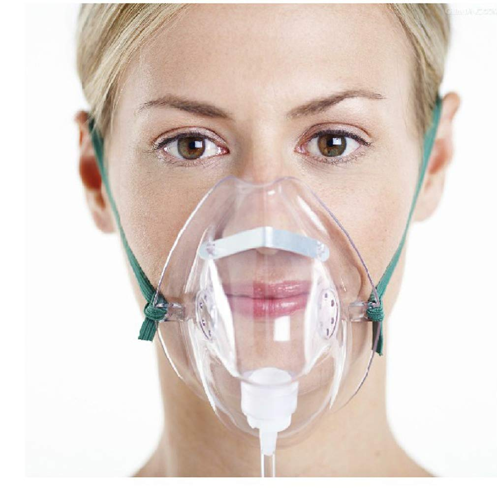 Adult Oxygen Mask with 6.6' Tubing - Soft - XL Size
