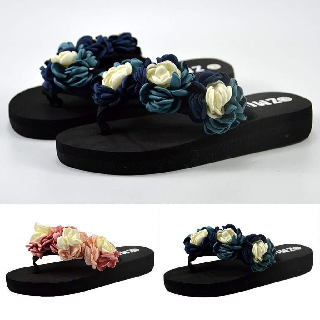 4d7a5253cb224 Amazon.com: {Minikoad} Women Beach Flip Flops Shoes,Ladies Muffin ...