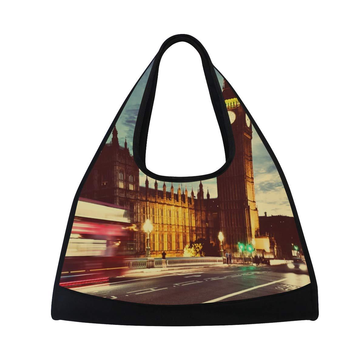 The Big Ben Clock Women Sports Gym Totes Bag Multi-Function Nylon Travel Shoulder Bag