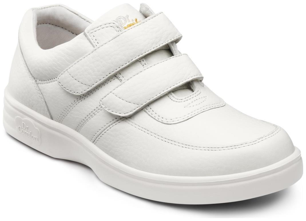 Dr. Comfort Collette Women's Therapeutic Diabetic Extra Depth Shoe: White 8.5 Wide (C-D) Velcro