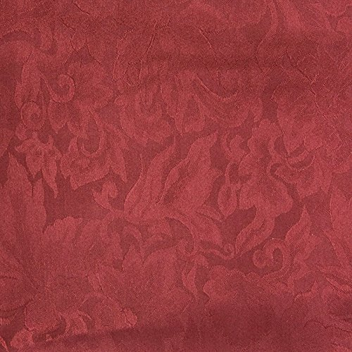 Wyoming Traders Mens Jacquard Silk Wild Rag Scarf Maroon Red