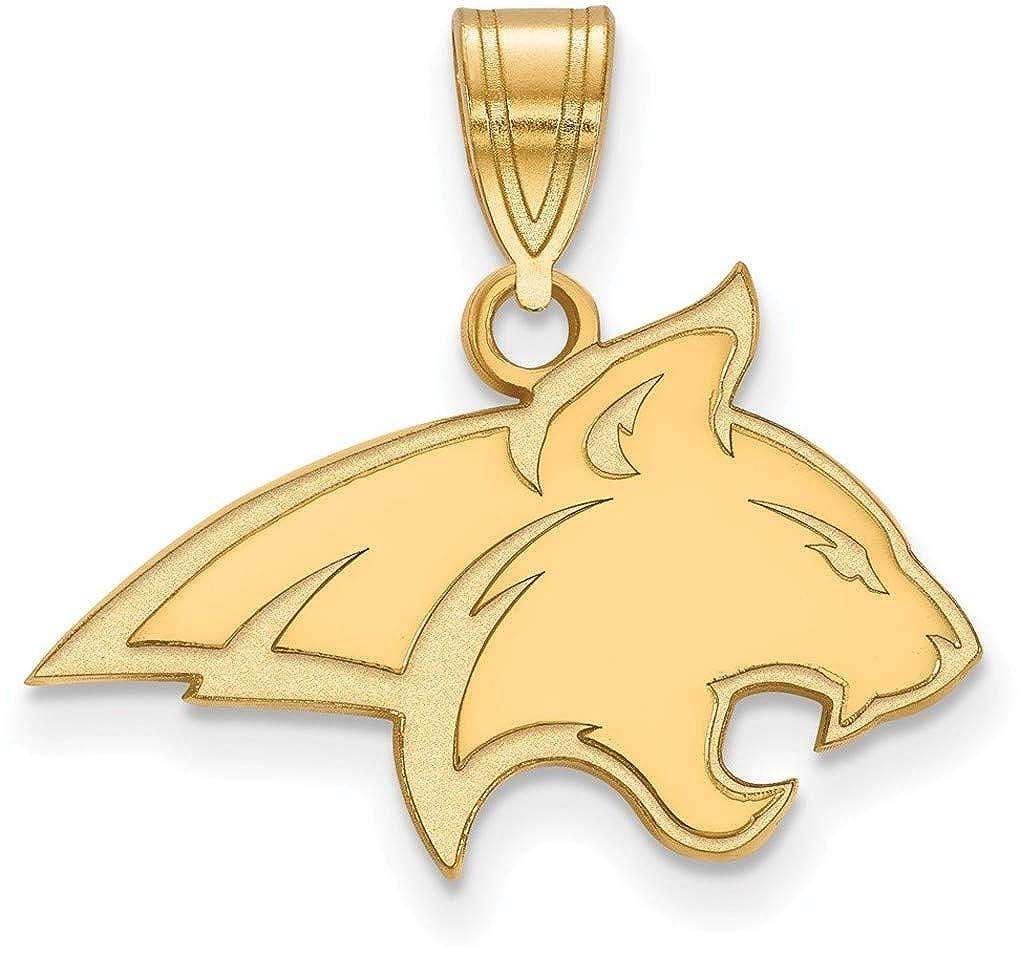 Gold-Plated Sterling Silver Montana State University Med Pendant LogoArt GP003