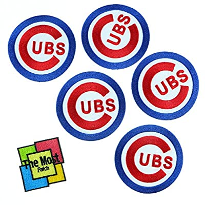 Lot of 6 pieces Chicago Cubs Bear Baseball Logo Jersey Team Embroidered Iron/Sew On Patch