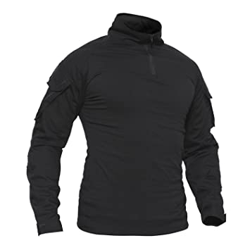 f5ea9bc3a TACVASEN Cotton T-Shirt Men Long Sleeve Military Winter Outdoor Casual  TShirt Mens Tee Top
