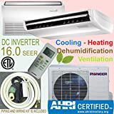 indoor heat pump - Pioner Floor - Ceiling Split Ductless Inverter+ Heat Pump System Set, 18000 BTU
