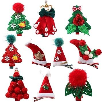 Christmas Hair Clips.Amazon Com 10pcs Christmas Hair Clips Hair Pins Barrettes