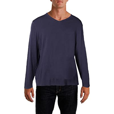 Alfani Mens Long Sleeves V-Neck Pullover Sweater Purple L at Men's Clothing store: Pumps Shoes