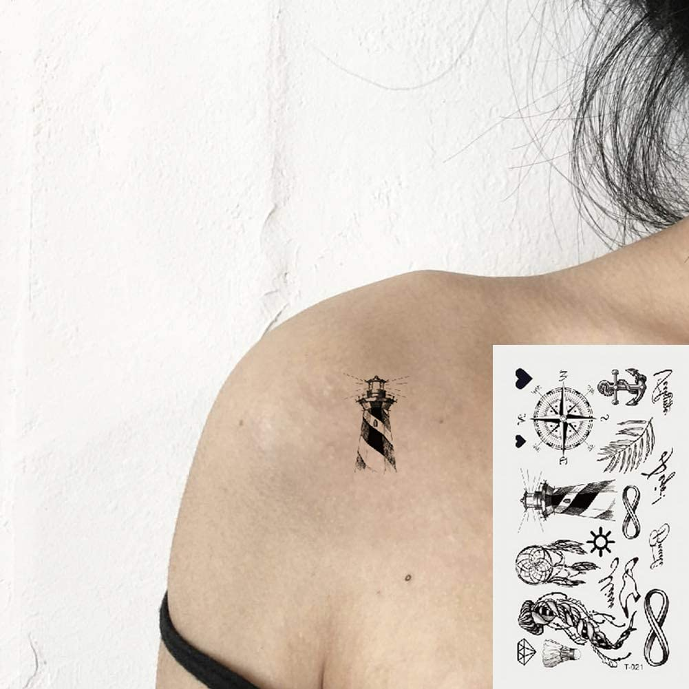 Oottati 2 Hojas Pequeño Lindo Tatuaje Temporal Tattoo Mashup ...