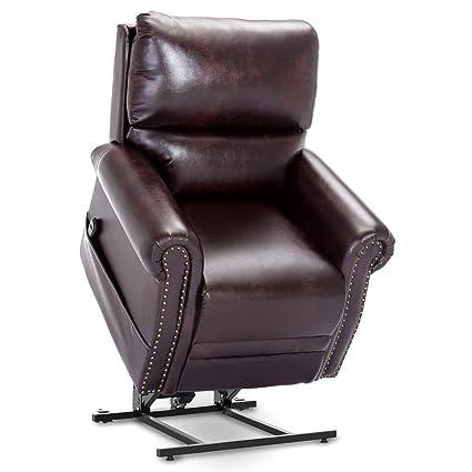 Pleasant Amazon Com Bonded Leather Power Lift Chair Recliner Sofa Frankydiablos Diy Chair Ideas Frankydiabloscom