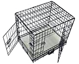 Cool Runners Tall Boy Large Wire Pet Crate 30'' x 21'' x 24'' With Bonus Faux Sheepskin Mattress