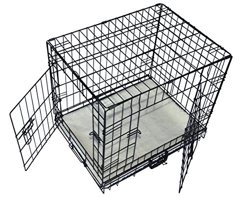 Cool Runners Tall Boy Large Wire Pet Crate 30 x 21 x 24 With Bonus Faux Sheepskin Mattress