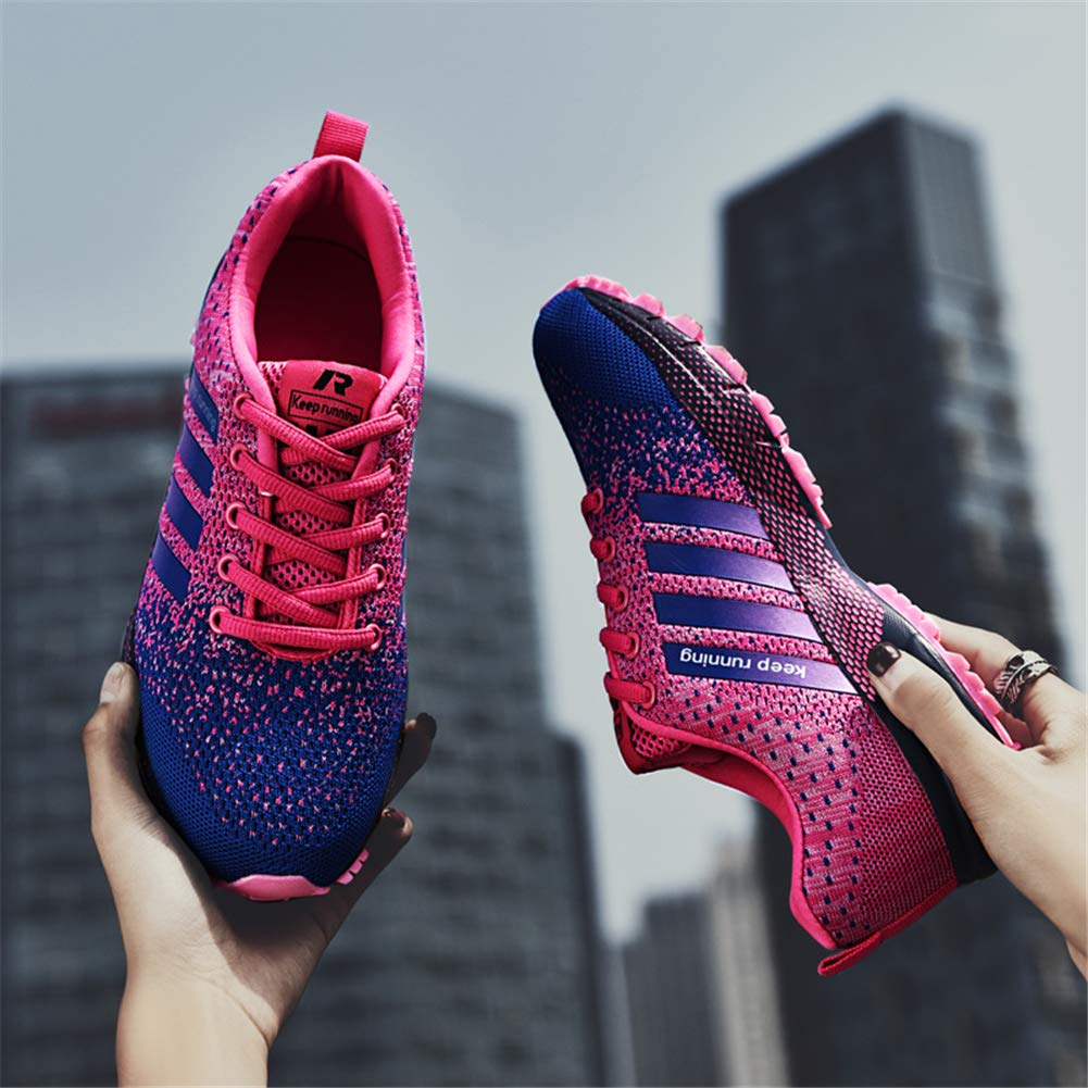 KUBUA Womens Running Shoes Trail Fashion Sneakers Tennis Sports Casual Walking Athletic Fitness Indoor and Outdoor Shoes for Women 5 B / 4 D F Purple by KUBUA (Image #9)